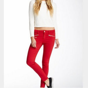 Joe's Jeans Jester Red Rocker Skinny Jeans